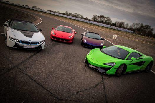 5 Platinum Supercar Experience 30 Miles + Free High Speed Ride