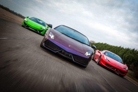 Platinum Supercar High Speed Passenger Rides 3 Cars