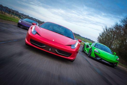 Triple Platinum Supercar Experience 18 Miles + Free High Speed Ride